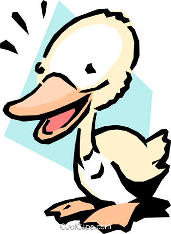 Cartoon duck Royalty Free Vector Clip Art illustration anim1068