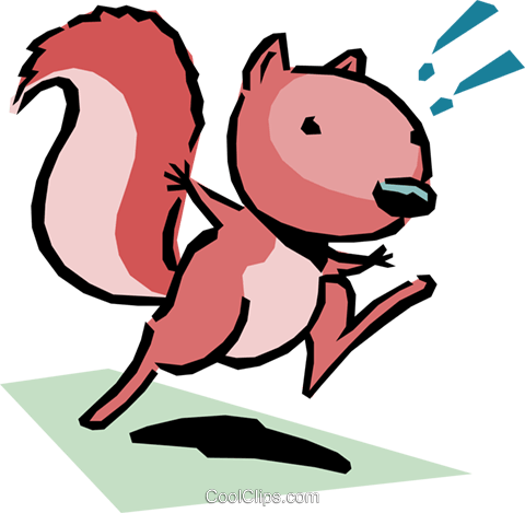 Cartoon squirrel Royalty Free Vector Clip Art illustration anim1076