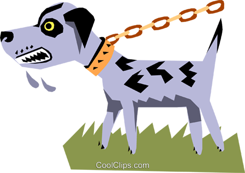 Dog Royalty Free Vector Clip Art illustration anim1102