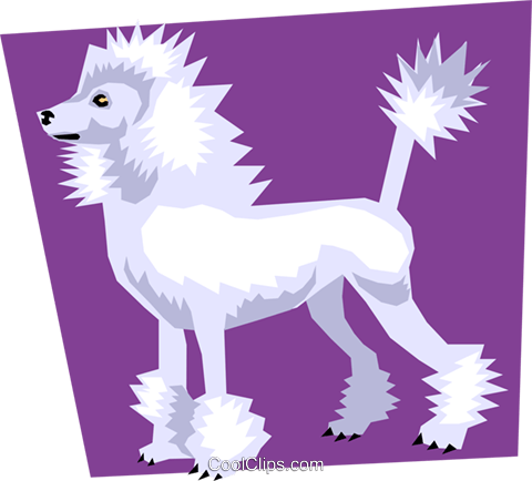 Dog Royalty Free Vector Clip Art illustration anim1105