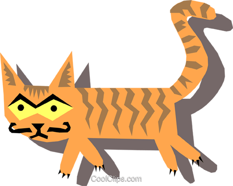 cat Royalty Free Vector Clip Art illustration anim1107