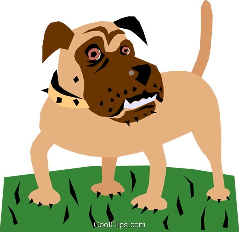 Dog Royalty Free Vector Clip Art illustration anim1108