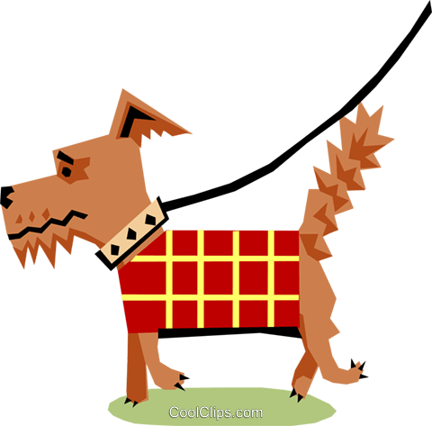 Dog Royalty Free Vector Clip Art illustration anim1117