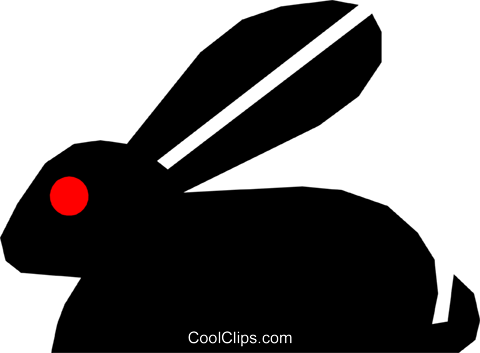 Rabbit Royalty Free Vector Clip Art illustration anim1125