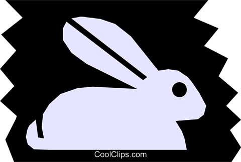 Rabbit Royalty Free Vector Clip Art illustration anim1126