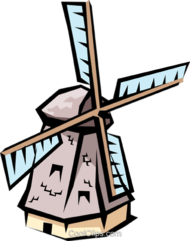 Windmills Royalty Free Vector Clip Art illustration arch0318