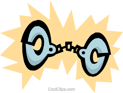 Handcuffs Royalty Free Vector Clip Art illustration busi0689