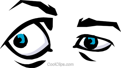 Eyes Royalty Free Vector Clip Art illustration cart1228
