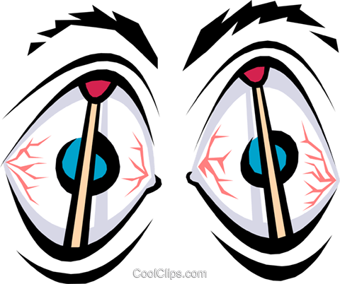 Eyes Vektor Clipart Bild cart1229