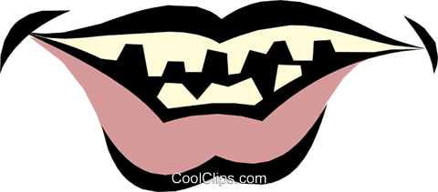 Mouths Royalty Free Vector Clip Art illustration cart1230