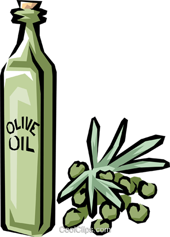 Olive oil Royalty Free Vector Clip Art illustration food0577