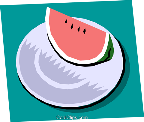 Watermelon Royalty Free Vector Clip Art illustration food0584