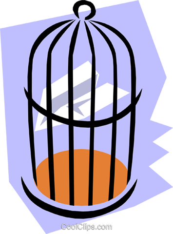 Birdcage Royalty Free Vector Clip Art illustration hous0762