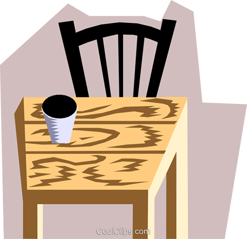 Chair Royalty Free Vector Clip Art illustration hous0763