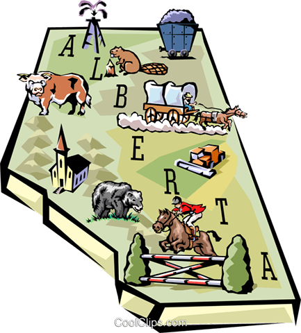 Alberta map Royalty Free Vector Clip Art illustration worl0598