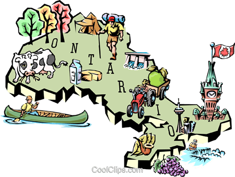 Ontario map Royalty Free Vector Clip Art illustration worl0606