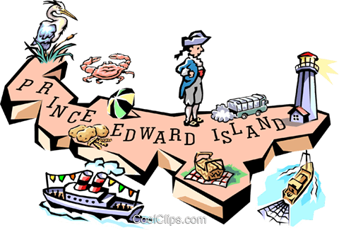 Prince Edward Island map Royalty Free Vector Clip Art illustration worl0607