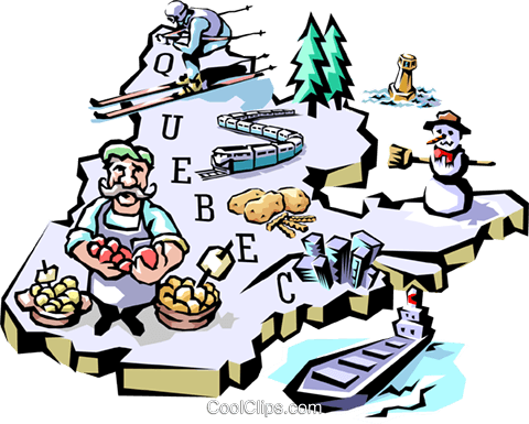 Quebec map Royalty Free Vector Clip Art illustration worl0608