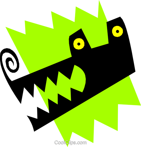 Alligator Royalty Free Vector Clip Art illustration anim1144