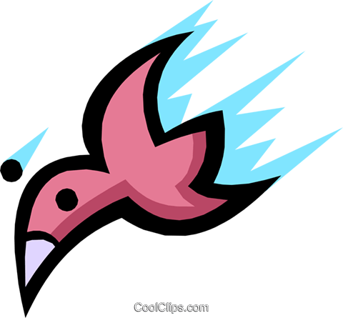 Birds Royalty Free Vector Clip Art illustration anim1154