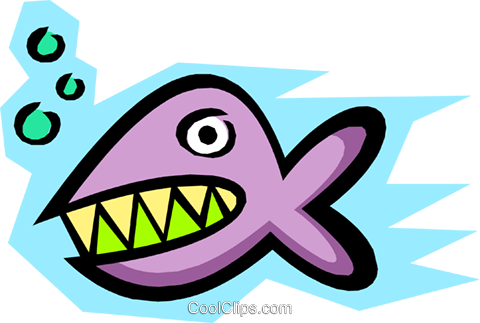 Fish Royalty Free Vector Clip Art illustration anim1155