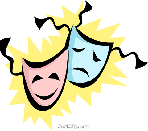 Theatrical masks Royalty Free Vector Clip Art illustration arts0244