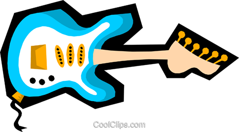 Guitar Royalty Free Vector Clip Art illustration arts0245