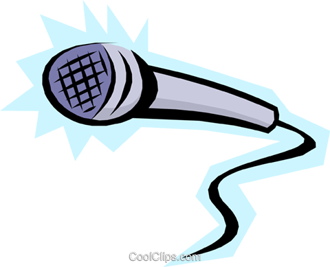 Cool microphone Royalty Free Vector Clip Art illustration arts0247