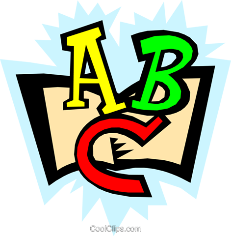 ABCs Royalty Free Vector Clip Art illustration busi0700