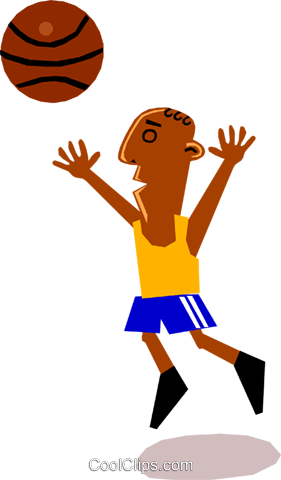 Basketball player Royalty Free Vector Clip Art illustration cart1333