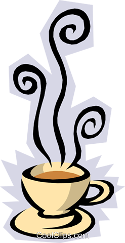 Cup of coffee Royalty Free Vector Clip Art illustration food0591