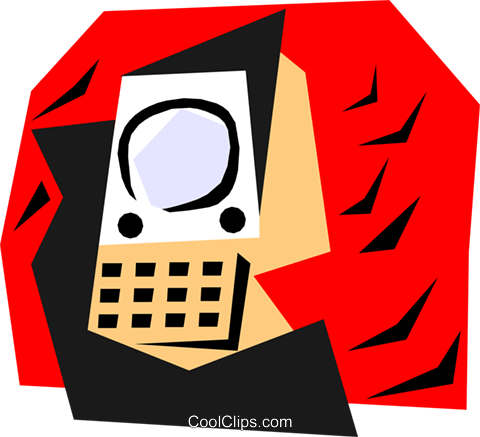 communication concept Royalty Free Vector Clip Art illustration hous0766