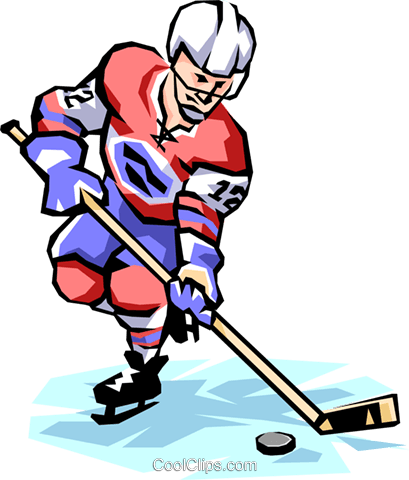Hockey Player Royalty Free Vector Clip Art illustration peop1473