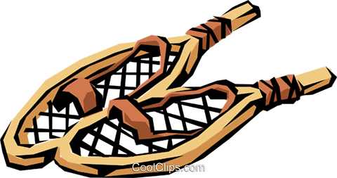 Snowshoes Royalty Free Vector Clip Art illustration spor0167