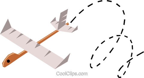 Paper airplanes Royalty Free Vector Clip Art illustration tran0445