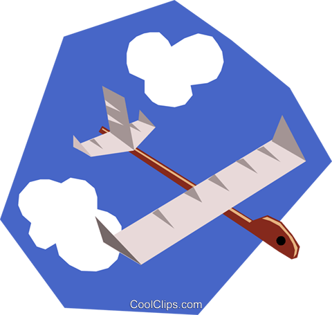 Paper airplanes Royalty Free Vector Clip Art illustration tran0446
