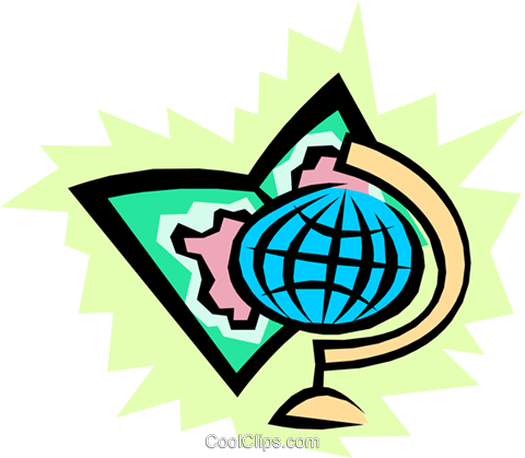 World symbol Royalty Free Vector Clip Art illustration worl0611