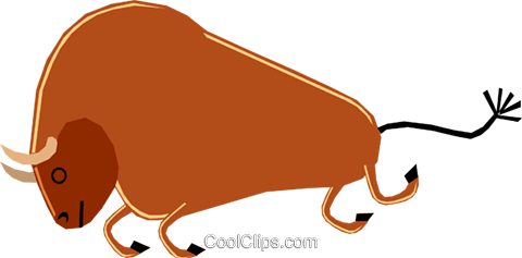Bull Royalty Free Vector Clip Art illustration anim1158