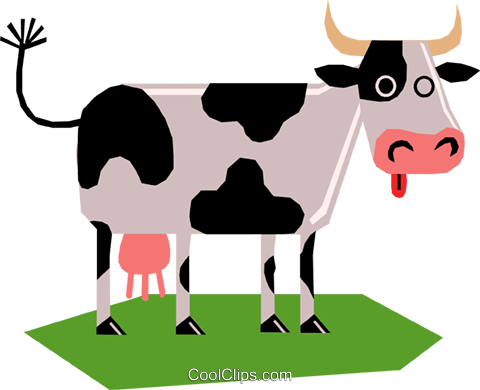 Dairy cow Royalty Free Vector Clip Art illustration anim1159