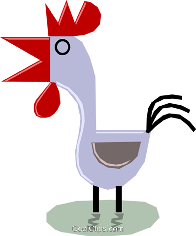 Rooster Royalty Free Vector Clip Art illustration anim1160