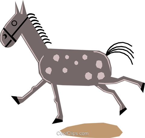 Horses Royalty Free Vector Clip Art illustration anim1161