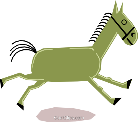 Horses Royalty Free Vector Clip Art illustration anim1163