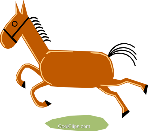 Horses Royalty Free Vector Clip Art illustration anim1164
