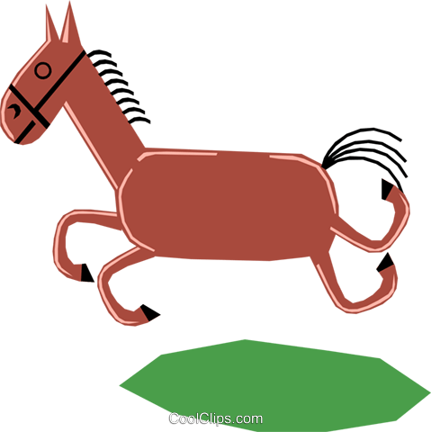 Horses Royalty Free Vector Clip Art illustration anim1165