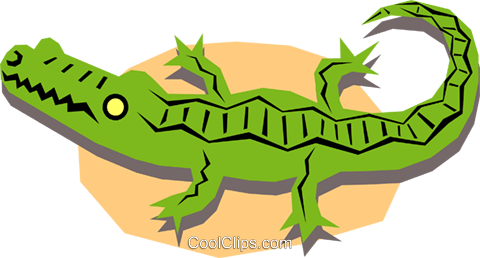 Alligators Royalty Free Vector Clip Art illustration anim1166