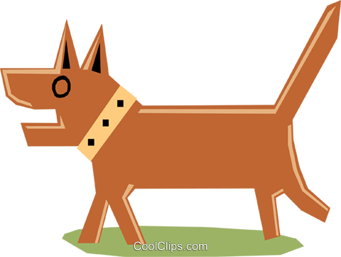 Dog Royalty Free Vector Clip Art illustration anim1168