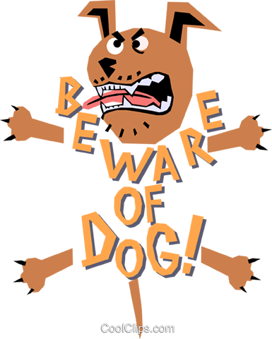 Dog Royalty Free Vector Clip Art illustration anim1169