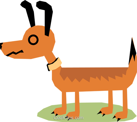 Dog Royalty Free Vector Clip Art illustration anim1172