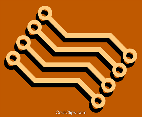 Circuit boards Royalty Free Vector Clip Art illustration busi0741