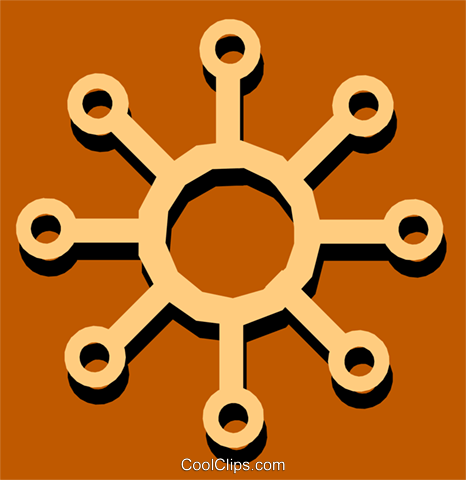 Circuit boards Royalty Free Vector Clip Art illustration busi0757